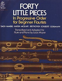 40 Little Pieces for Flute published by G Schirmer