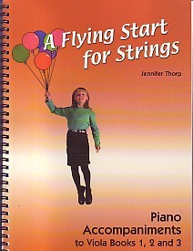 A Flying Start for Strings - Piano Accompaniment for Books 1, 2, 3 for Viola published by Flying Start