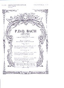 Bach: O Little Town of Hackensack SATB published by Theodore Presser