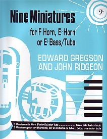 9 Miniatures by Gregson  for Tuba (Bass Clef) published by Brasswind