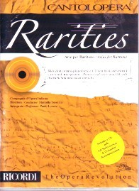 Cantolopera : Rarities - Arias for Baritone Book & CD published by Ricordi