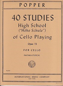 Popper: 40 Studies High School Opus 73 for Cello published by IMC
