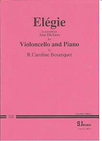 Bosanquet: Elegie for Cello published by S J Music