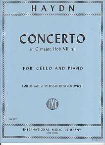 Haydn: Concerto No 1 in C for Cello published by IMC