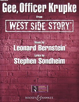 Bernstein: Gee Officer Krupke from West Side Story published by Boosey and Hawkes