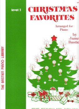 Bastien Christmas Favorites Level 3 for Piano published by KJOS