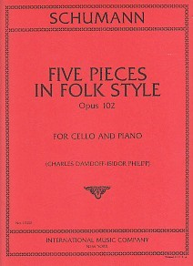 Schumann: 5 Pieces in Folk Style Opus 102 for Cello published by IMC