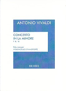 Vivaldi: Concerto in A Minor RV418 for Cello published by Ricordi
