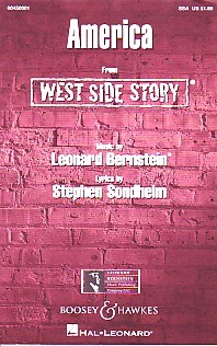 America SSA (West Side Story) by Bernstein published by Boosey & Hawkes