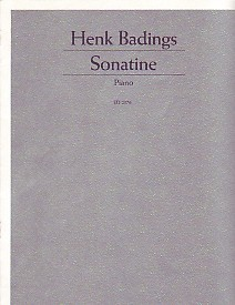 Badings Sonatine for Piano published by Schott and Co