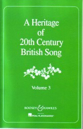 A Heritage of 20th Century British Song Volume 3 published by Boosey and Hawkes