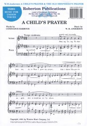 Anderson: Child's Prayer/Old Shepherd's Prayer published by Roberton