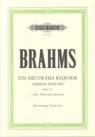 Brahms: Deutsches Requiem published by Peters - Vocal Score