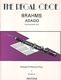 Brahms: Adagio Op77 for Oboe published by Fentone