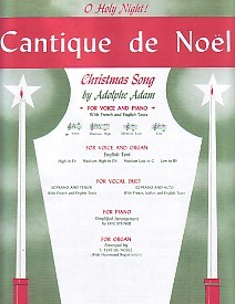 Adam: Cantique De Noel (O Holy Night) For High Voice In Eb published by Schirmer