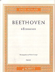 Beethoven: 6 Ecossaises for Piano published by Schott