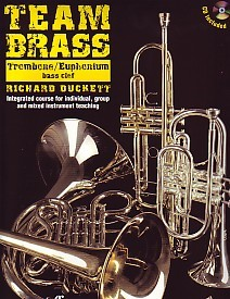 Team Brass for Trombone & Euphonium (Bass Clef) Book & CD published by Faber