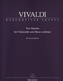 Vivaldi: 2 Sonatas RV40 and 46 for Cello published by Barenreiter