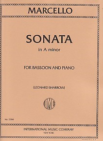 Sonata in A Minor by Marcello for Bassoon published by IMC