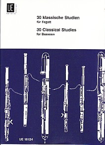 30 Classical Studies for Bassoon published by Universal Edition