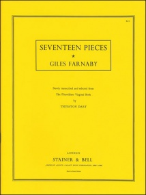Farnaby: Seventeen Pieces for Keyboard published by Stainer & Bell