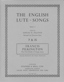 Pilkington: The First Booke of Songs (1605) published by Stainer & Bell