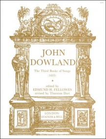 Dowland: The Third Booke of Songs (1603) published by Stainer & Bell