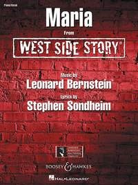 Bernstein: Maria  from ''West Side Story'' published by Boosey & Hawkes