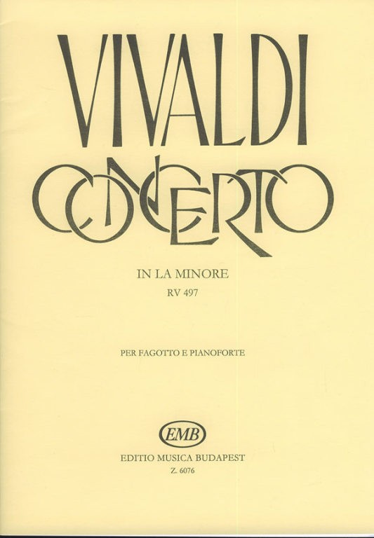 Bassoon: Concerto No 7 in A Minor FVIII for Bassoon published by EMB