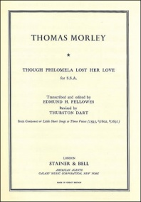 Morley: Though Philomela lost her love SSA published by Stainer & Bell