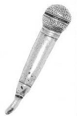 Pewter Pin Badge - Microphone
