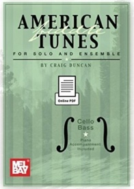 American Fiddle Tunes For Solo And Ensemble - Cello Bass published by Mel Bay
