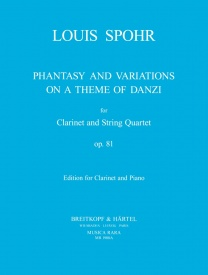 Fantasy & Variations Opus 81 by Spohr for Clarinet (Piano Reduction) published by Musica Rara
