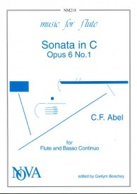 Abel: Sonata in C Opus 6/1 for Flute published by Nova