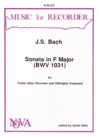 Bach: Sonata in F BWV1031 for Treble Recorder published by Nova