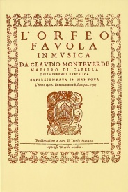 Monteverdi: L'Orfeo - Favola In Musica SV.318 published by Novello - Vocal Score