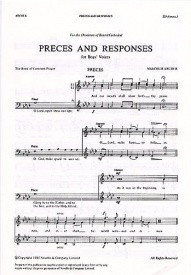 Malcolm Archer: Preces And Responses (SSA) published by Novello