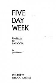 Burness: 5 Day Week for Bassoon published by Paterson