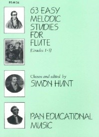 63 Easy Melodic Studies (Grade 1 to 5) for Flute published by Pan Educational Music