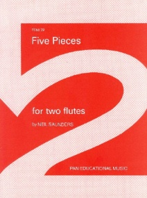 Saunders: Five Pieces for Two Flutes published by Pan Educational Music