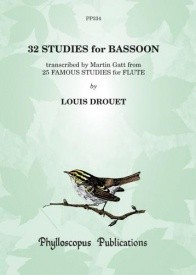 Drouet: 32 Studies for Bassoon published by Phylloscopus