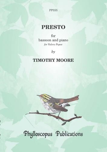 Presto for Bassoon by Moore published by Phylloscopus