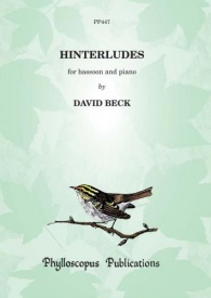 Hinterludes by Beck for Bassoon published by Phylloscopus