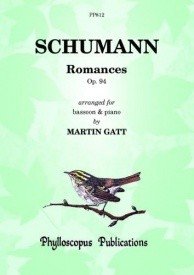 3 Romances Opus 94 for Bassoon by Schumann published by Phylloscopus
