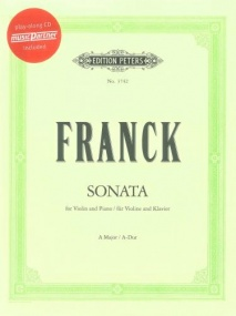 Franck: Sonata in A major for Violin Book & CD published by Peters
