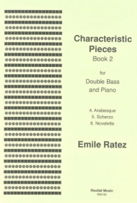 Ratez: Characteristic Pieces Book 2 for Double Bass published by Recital
