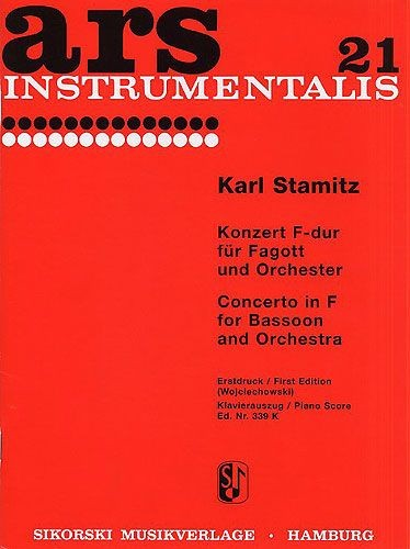 Stamitz: Concerto for Bassoon published by Sikorski