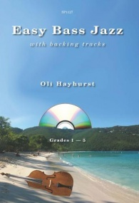 Hayhurst: Easy Bass Jazz with backing tracks published by Spartan
