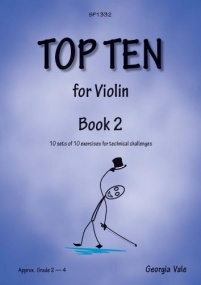 Vale: Top Ten Book 2 for Violin (Grade 2 - 4) published by Spartan