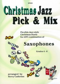 Christmas Jazz Pick & Mix for Saxophone Duets published by Spartan